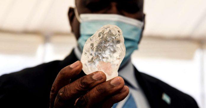Botswana , le troisième plus gros diamant au monde découvert